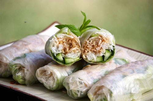 Shredded Pork and Pork Skin Rice Paper Rolls - Bì Cuốn
