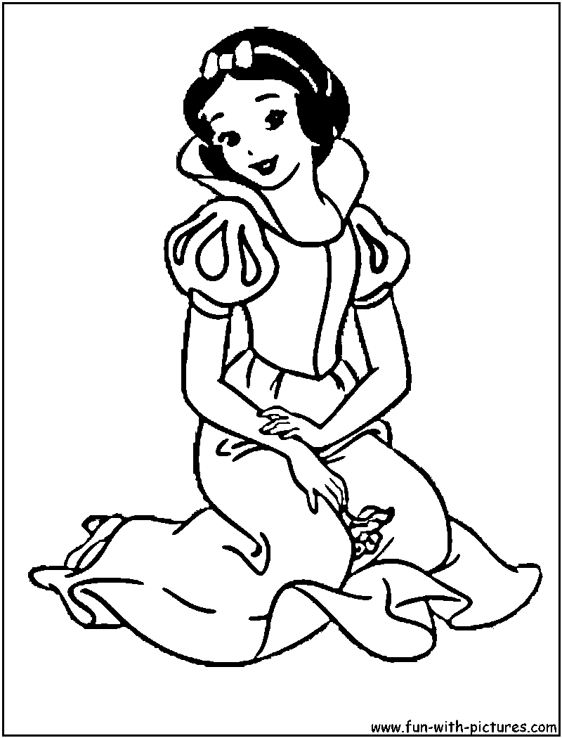 Free Coloring Pages Of Snow White Adult Snow White Coloring Pages