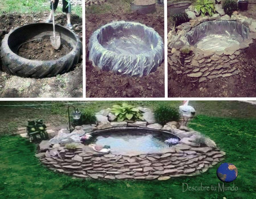 Descubre tu mundo haz un peque o lago de agua en casa for Estanque jardin pequeno