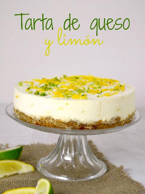 Tarta de queso y limón fácil