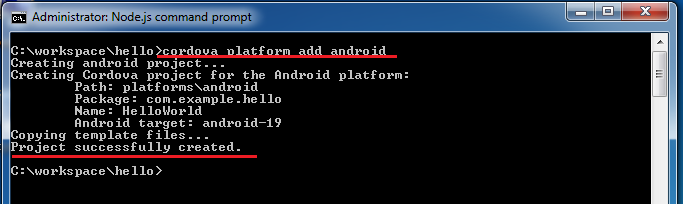 Basic it informations how to install phonegap cordova with check your platform that installed on your project by using the below command pronofoot35fo Choice Image