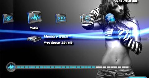 Free PSP Theme: Sexy PSP Themes Download