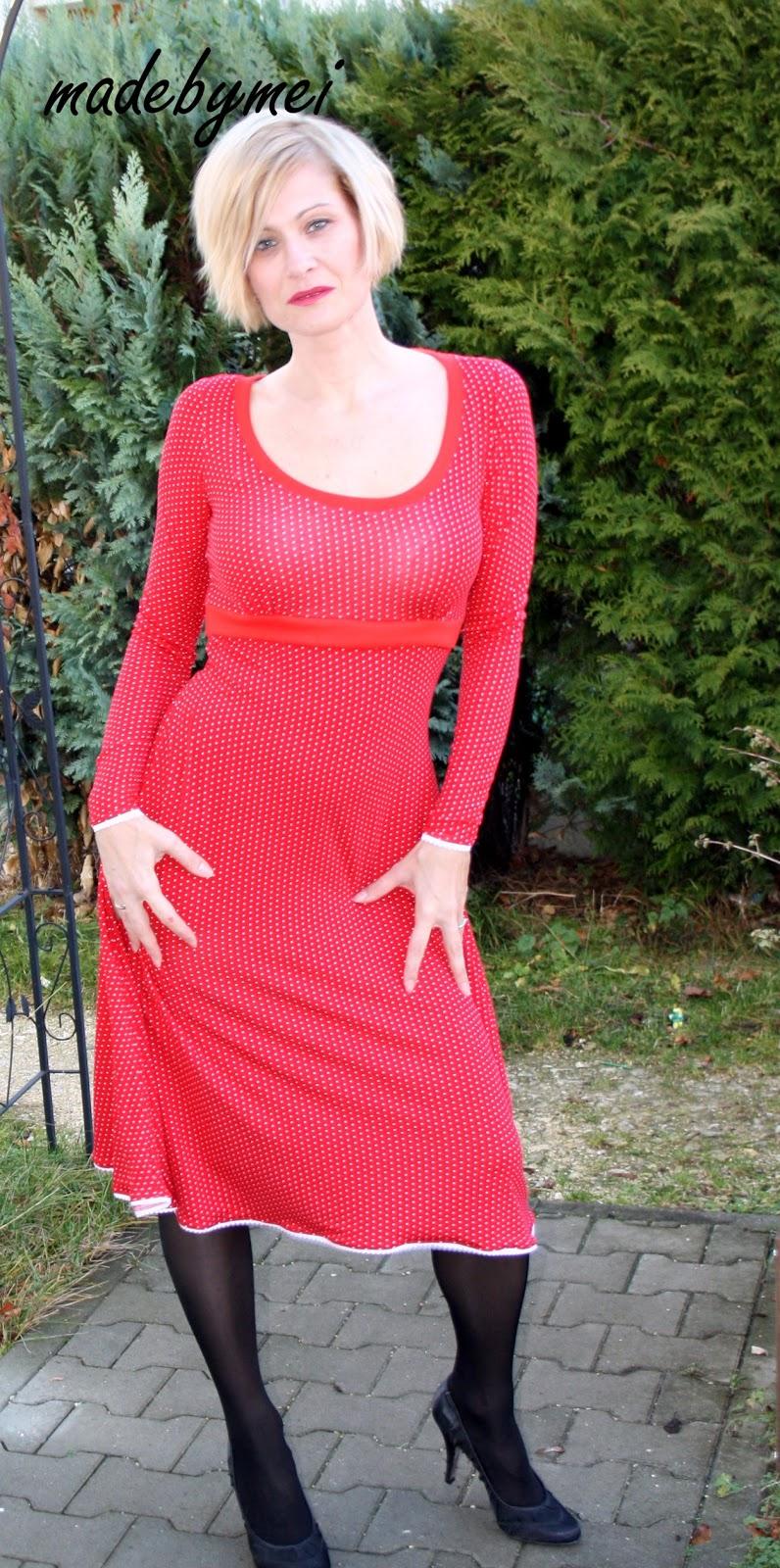 Rotes kleid nahen