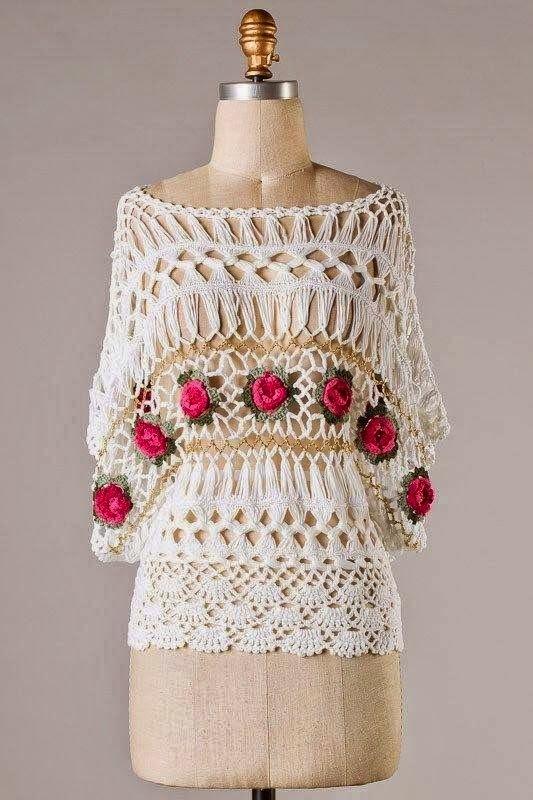 Flores De Tejido De Gancho. Muestras Tejidos A Crochet Yo Ganchillo ...