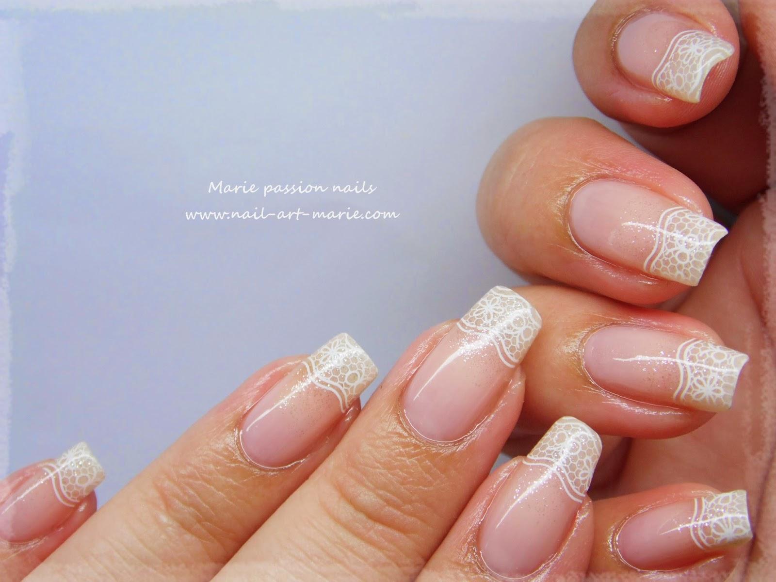 nail art french en dentelle2