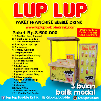 waralaba coklat franchise minuman bubble drink terlaris