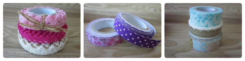 Foto de lace tape, fabric tape y washi tape