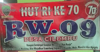 HUT RI Ke-70 RW.09 Desa Cilembu