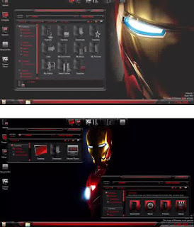 IronMan SkinPack For Windows 7 Terbaru