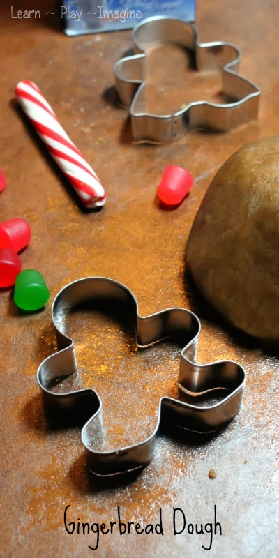 4 ingredient gingerbread dough recipe for fine motor skills, imaginative play, and sensory play!
