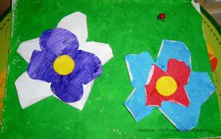 Activité manuelle jardin peinture