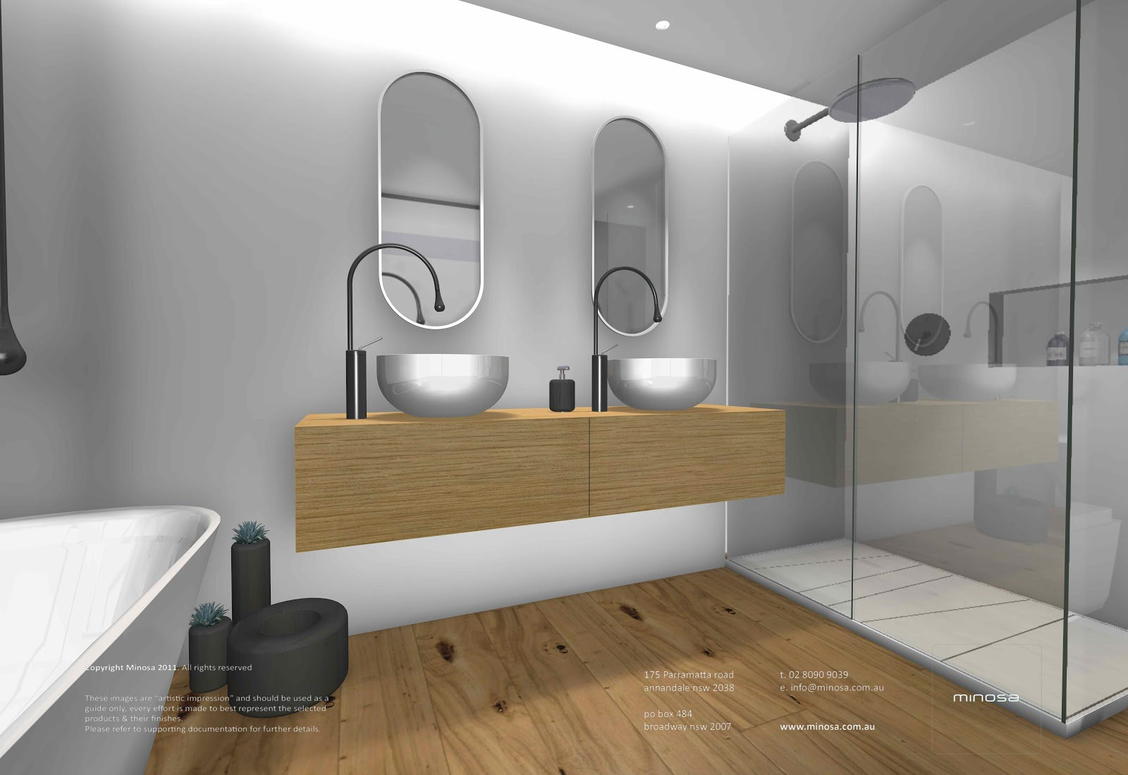 sydney city apartment modern bathroom design with corian walls - Bathroom Design Sydney