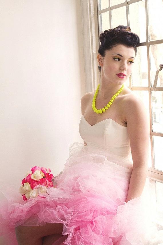 Wedding Lady: Wedding Dress With Pink