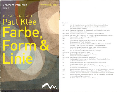 Paul Klee - Farbe, Form and Linie Brochure