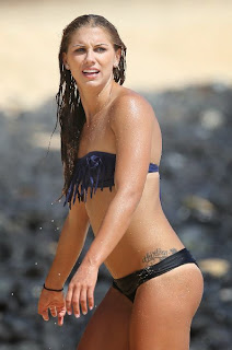 Alex Morgan Blue Bikini Hawaii