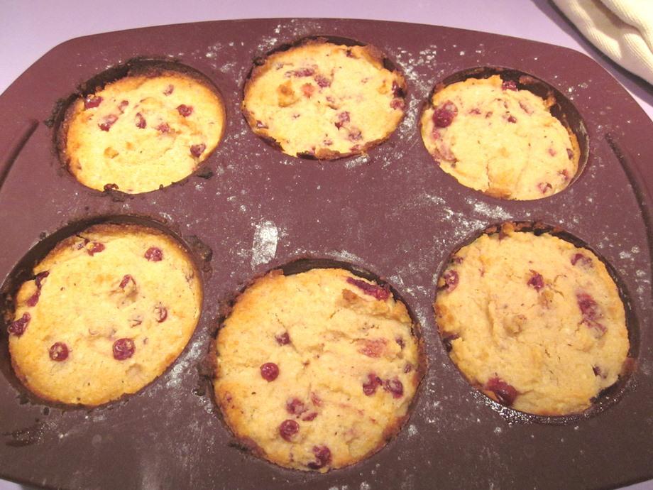 gâteaux sans gluten aux baies d'airelles, noix de coco et amande
