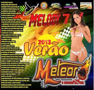 Cd Meteoro Melody vol.07 Verão 2013 (dj.s mauro e mauricio do studio 2 irmãos e fabricio incomparavel)
