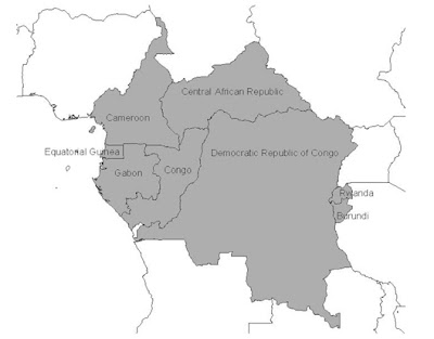 Central Africa Map Picture