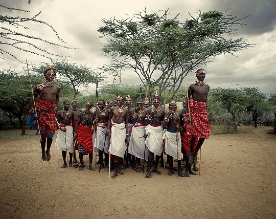 Samburu people, Kenia.