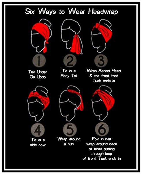 6 ways to wear a headwrap