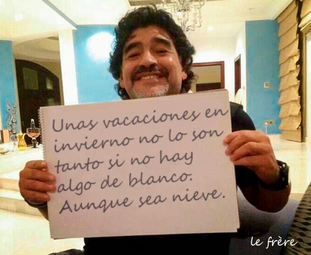 """""""Maradona"""",""""cocaína"""", """"Nieve"""",""""Polonia"""", """"2015"""", """"vacaciones"""""""