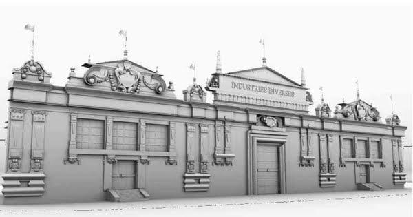 Le Palais des Industries Diverses en 3D