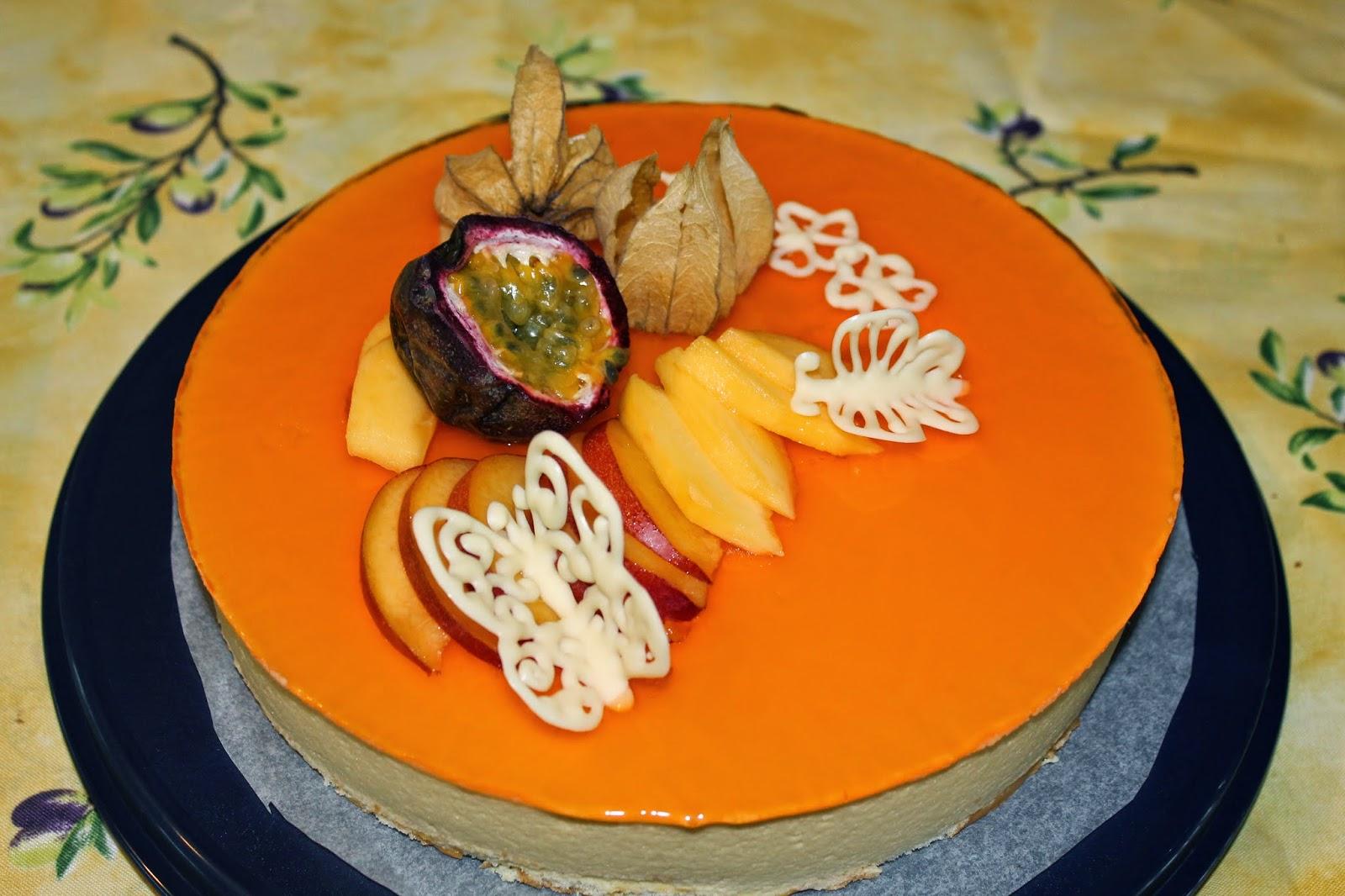 Gateau fruit exotique