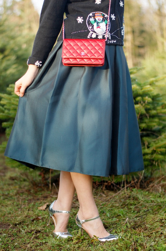 Tibi Simona skirt outfit idea