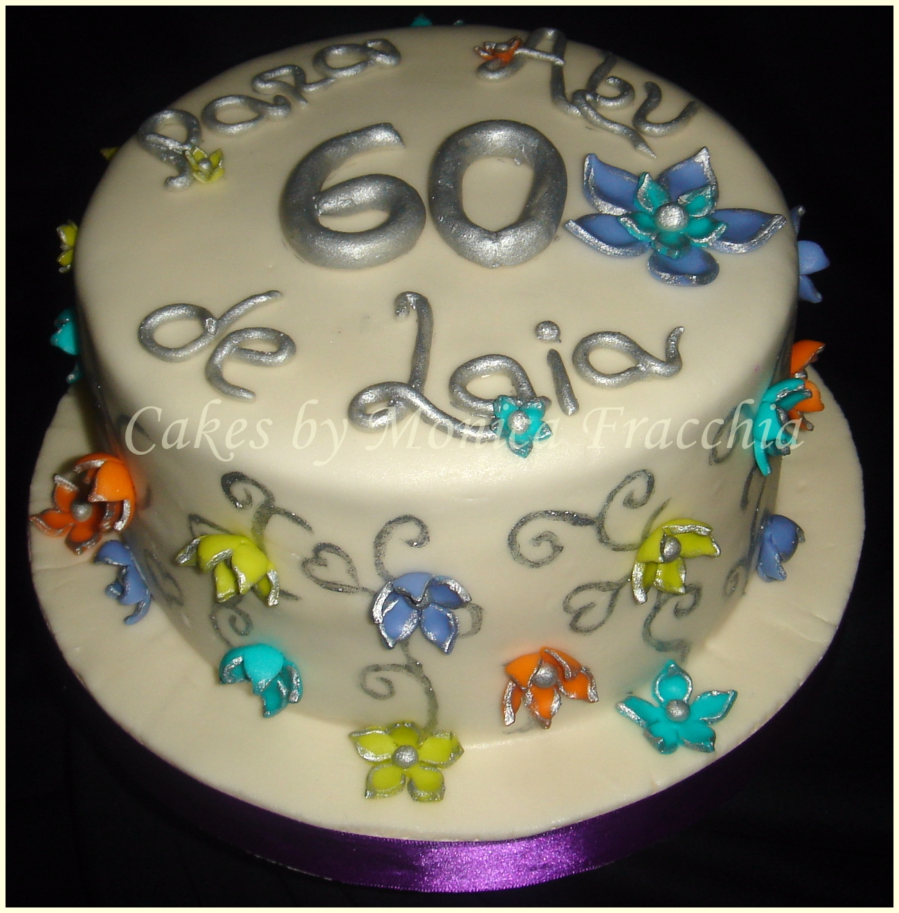 Torta Decorada De Flores Para La Abuela Tortas Cakes By Monica