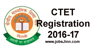 CTET Registration 2016-17