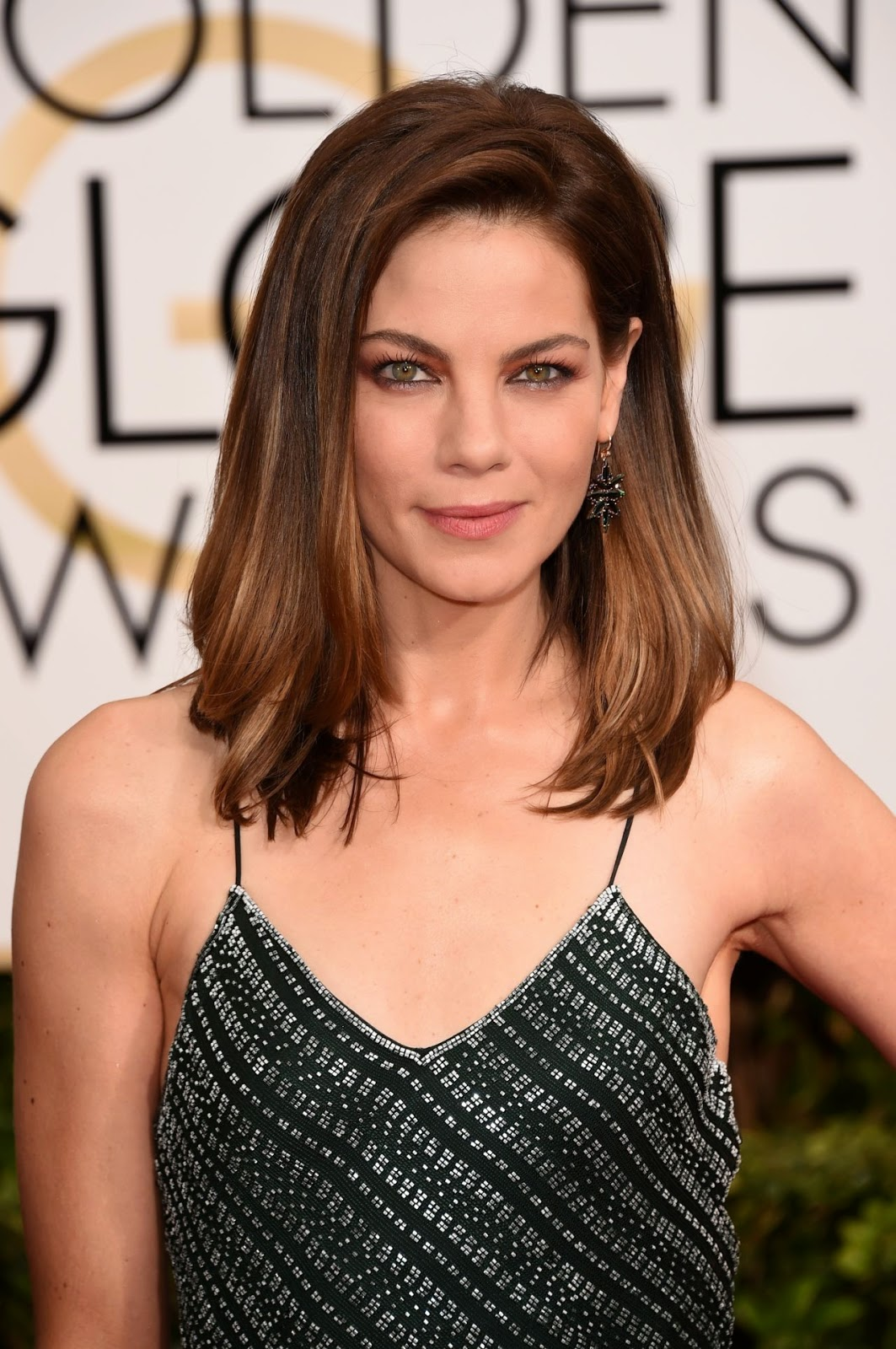 Michelle Monaghan stuns in a slinky dress at the 2015 Golden Globes