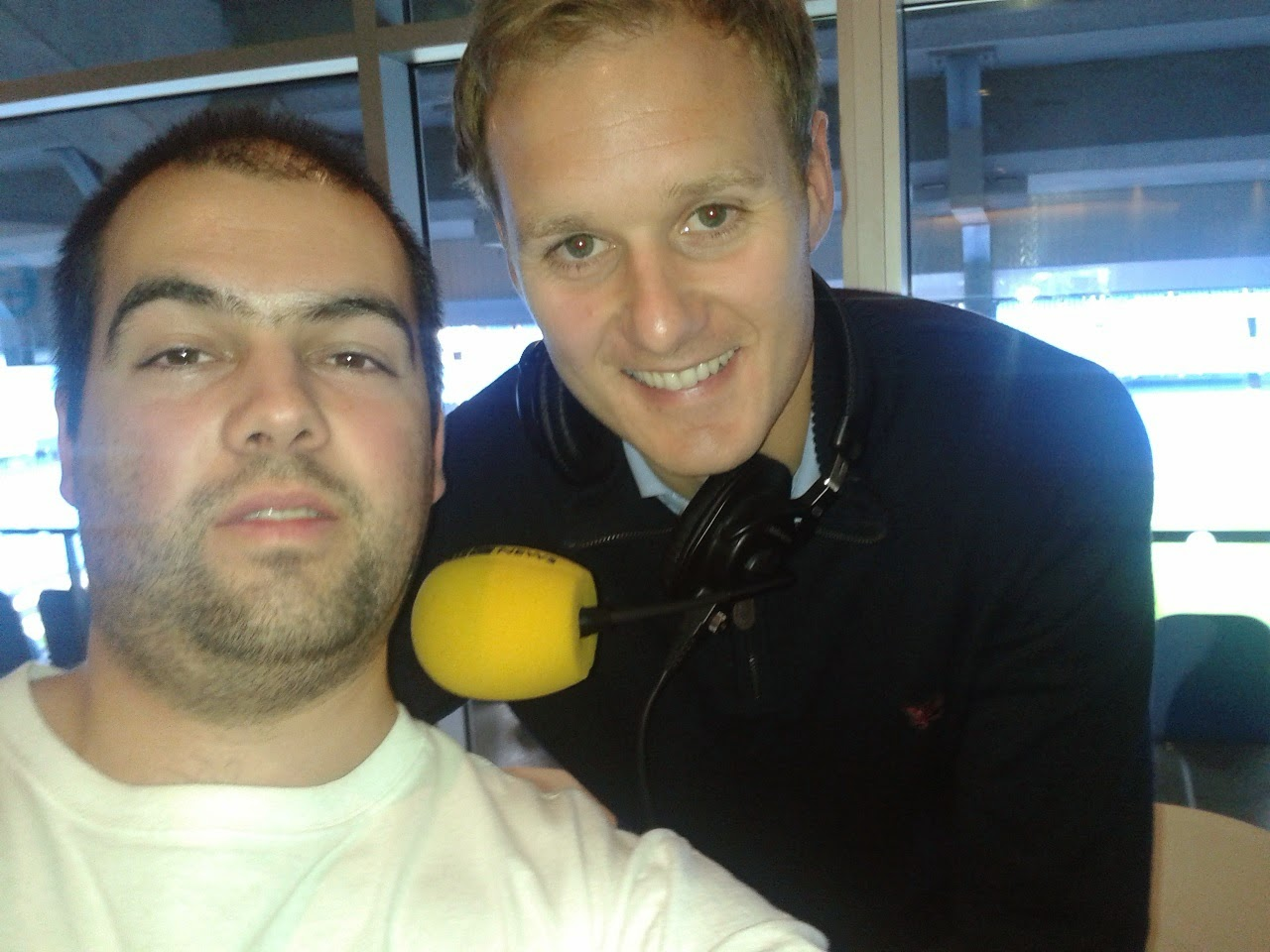 Pierateer RAS and fellow football pie fan Dan Walker