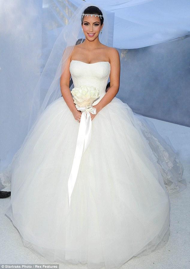 Kim Kardashian Brautkleid