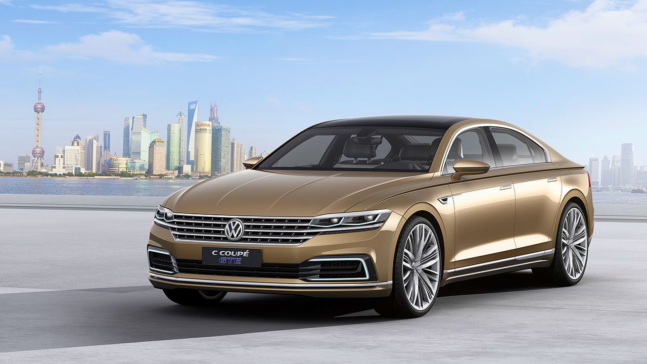 Volkswagen presents the C Coupé GTE Concept car at Auto Shanghai 2015