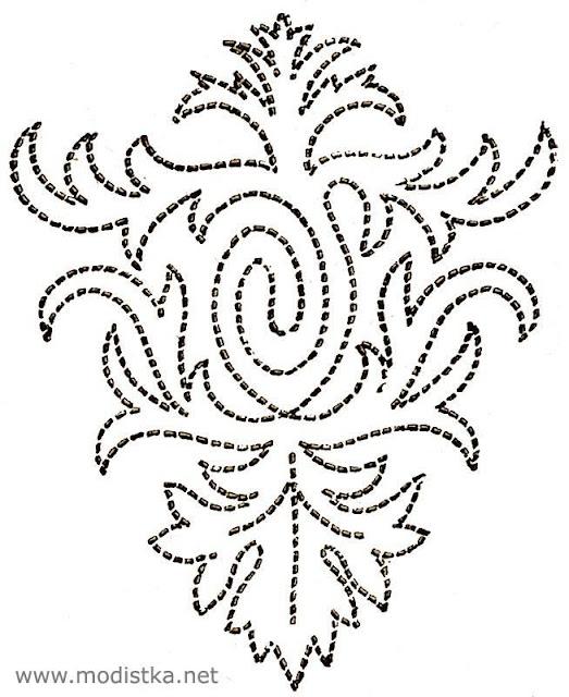 Узоры для вышивки жемчугом и бисером схемы 37