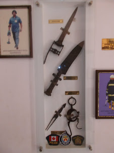 """Tourist Police Museum"". in Mattancherry :-.Evolution of weapons."