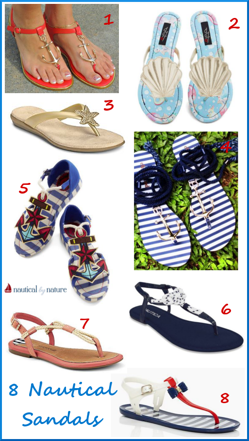 Nautical by Nature | 8 Nautical Sandals