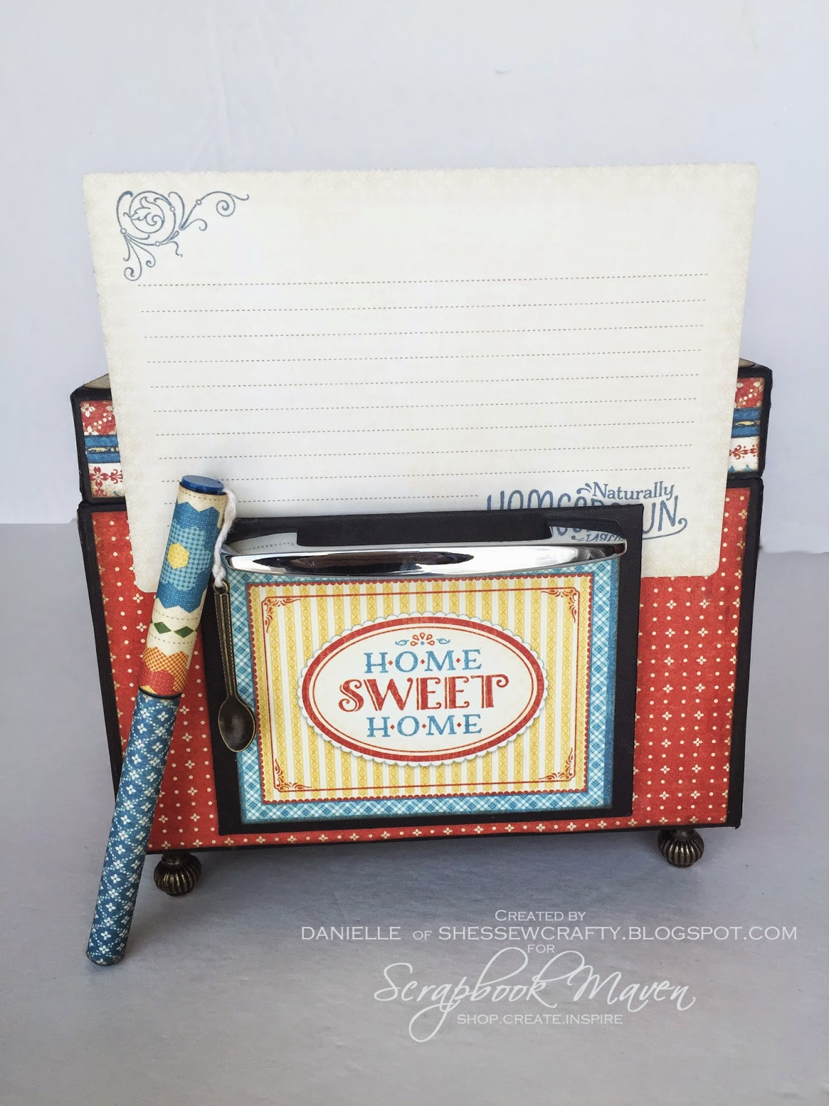 Scrapbook Maven's Retro Stove/Oven Recipe Box using Graphic 45 Home Sweet Home Design Team Final Round Project