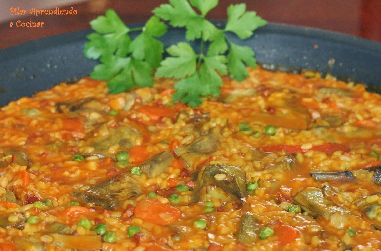 Aprendiendo a cocinar arroz con alcachofas y jam n for Cocinar alcachofas