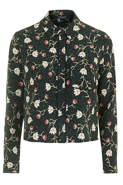 topshop black floral shirt, black flower shirt,