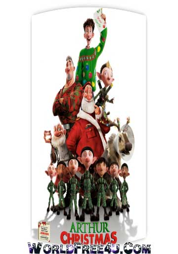 Poster Of Arthur Christmas (2011) In Hindi English Dual Audio 300MB Compressed Small Size Pc Movie Free Download Only At worldfree4u.com