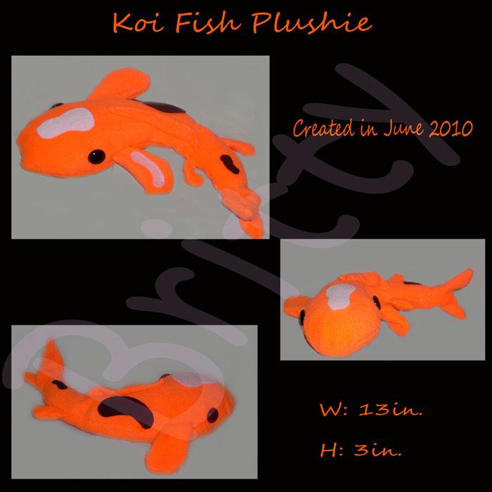 Britty of brittymachinies multi media for Koi fish plush