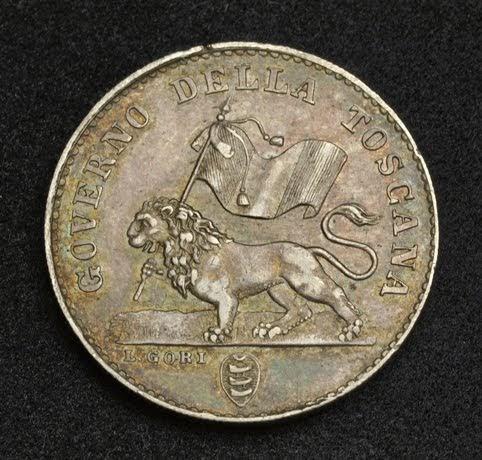 Italian States Coins Fiorino Tuscan Florin Silver Coin Of