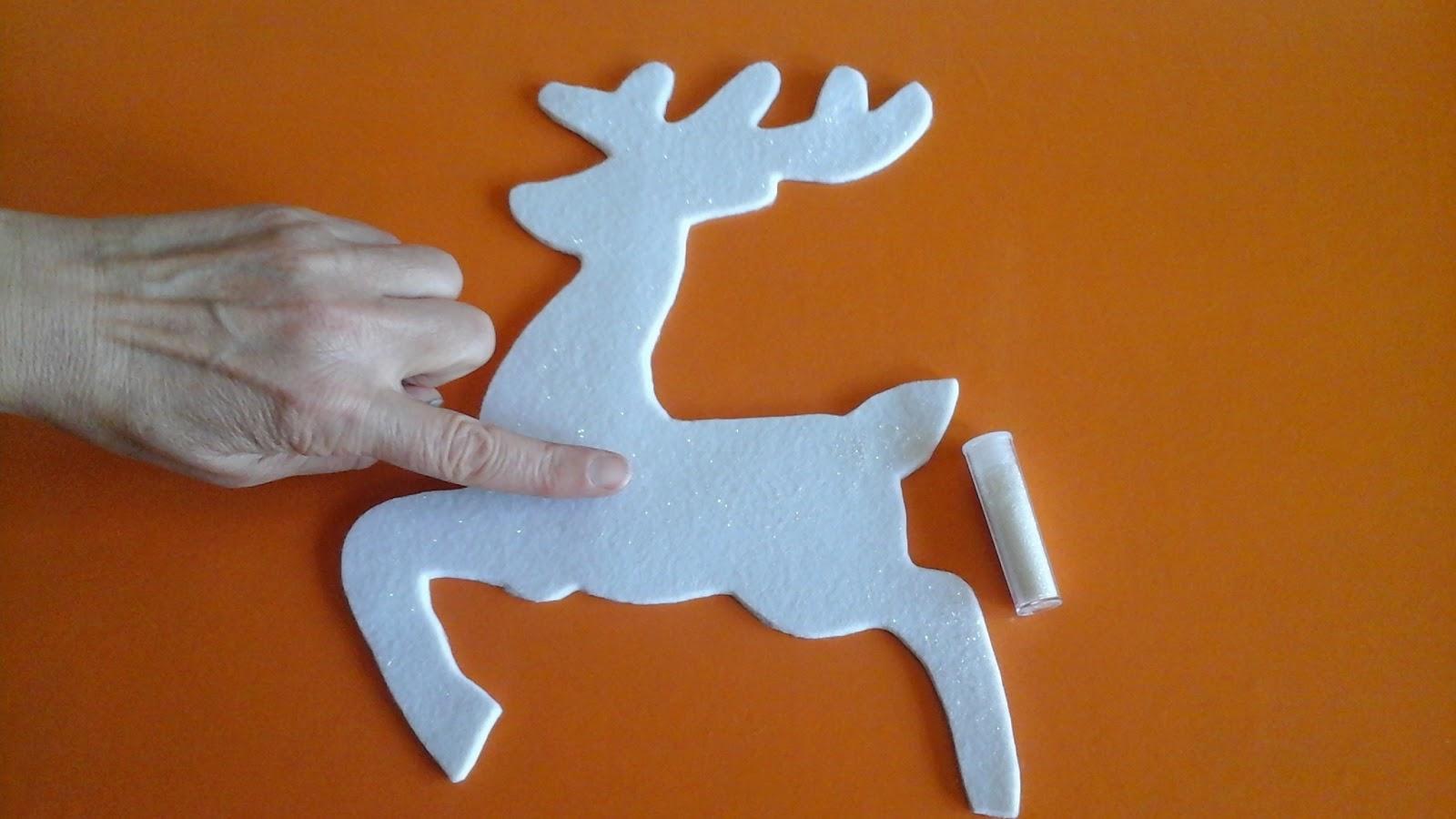 Rosalba e le sue creazioni la renna volante di babbo natale - Addobbare le finestre per natale ...