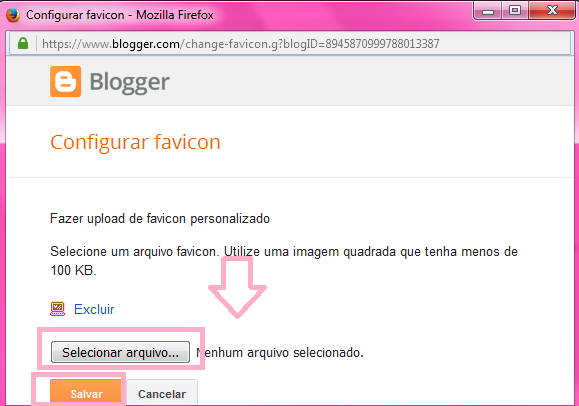 Como colocar Favicon no navegador do blog