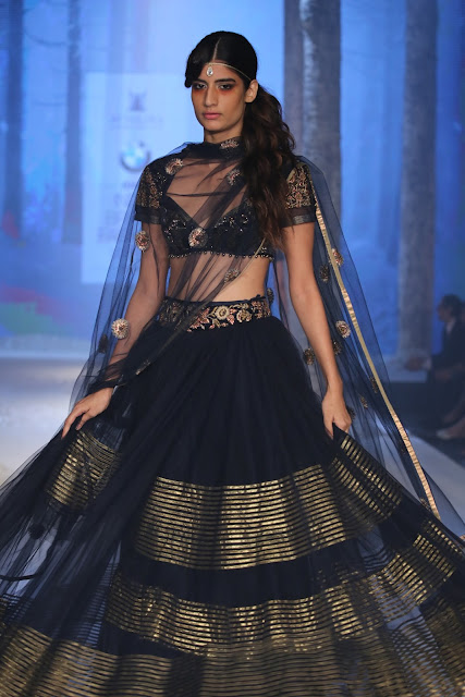 JJValaya-BMW-Indian-Bridal_Fashion-Week-black-Anarkali