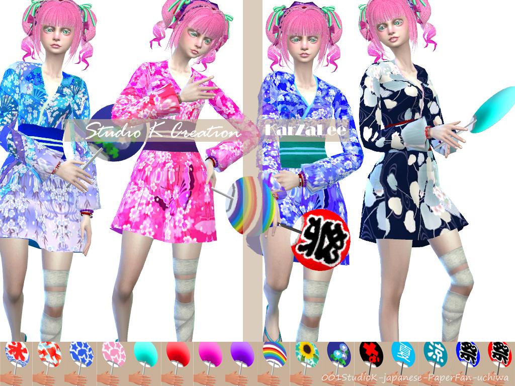 My Sims 4 Blog Japanese Yukata For Males Uchiwa For