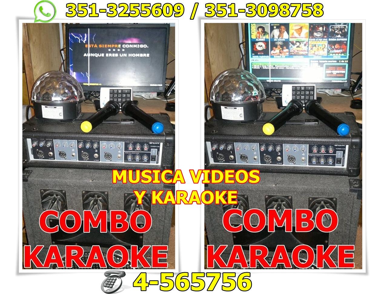 COMBO KARAOKE, MUSICA Y VIDEOS