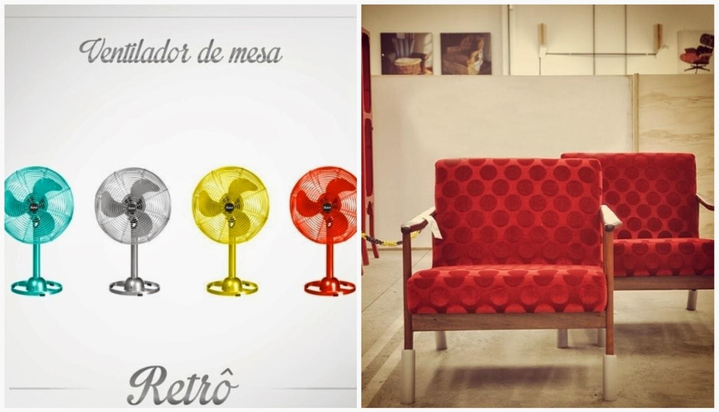 ventilador colorido @tokstok e poltrona com tecido novo @desmobiliavintage