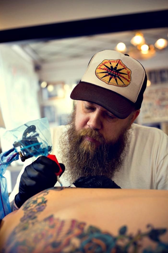 jesper bram tattooing in copenhagen